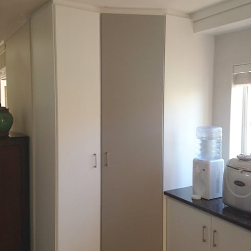 After make-over:  Built-in kitchens by Cape Kitchen Designs