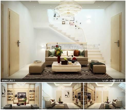 Thiết kế nội thất phòng khách:  Phòng khách by Công ty TNHH Không Gian Mo