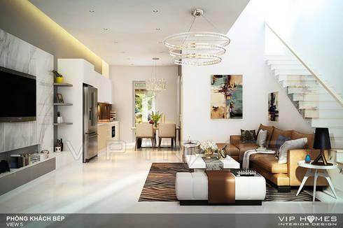 Thiết kế nội thất Villa MELOSA GARDEN:  Phòng giải trí by Công ty TNHH Không Gian Mo