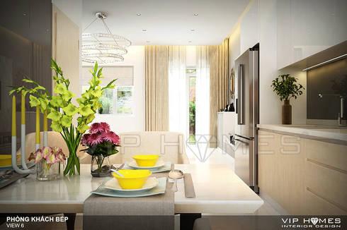 Thiết kế nội thất Villa MELOSA GARDEN:  Phòng ăn by Công ty TNHH Không Gian Mo