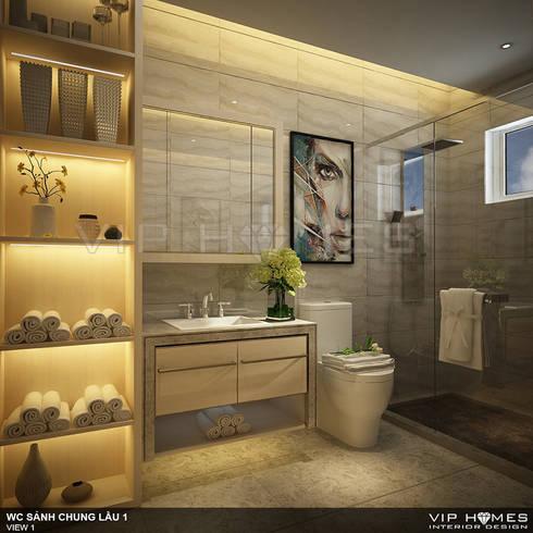 Thiết kế nội thất Villa MELOSA GARDEN:  Phòng tắm by Công ty TNHH Không Gian Mo