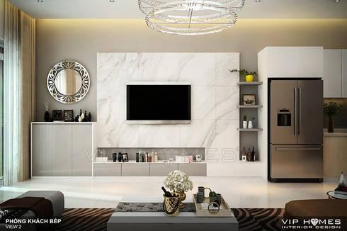 Thiết kế nội thất phòng khách:   by Công ty TNHH Không Gian Mo