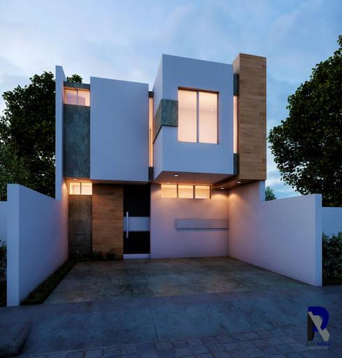 Casas unifamiliares de estilo  por Alan Rangel Arquitecto
