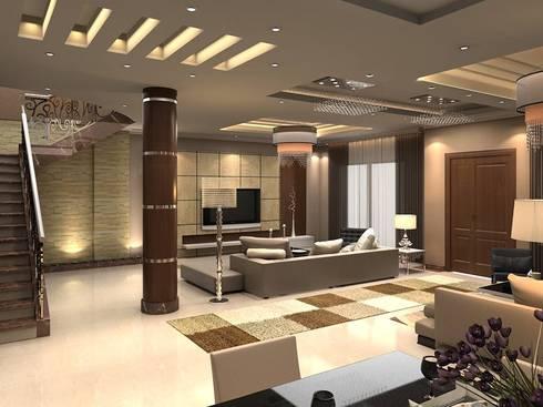 Villa 10th of Ramadan:  تصميم مساحات داخلية تنفيذ Axis Architects