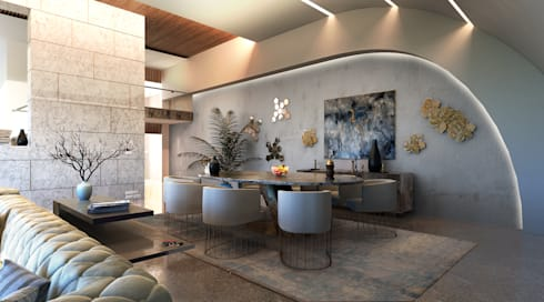 MAAB Villa: minimalistic Dining room by GOWS architects