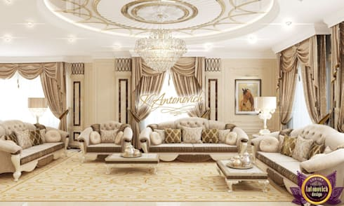 The most beautiful interiors from Katrina Antonovich: classic Living room by Luxury Antonovich Design