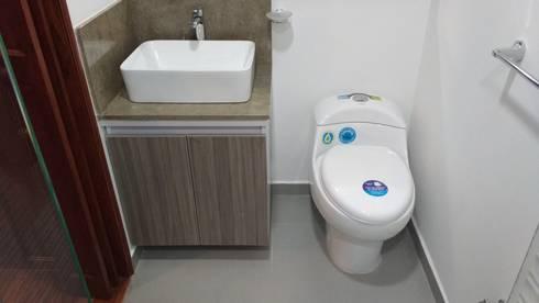 Baño Principal: Baños de estilo moderno por bdl concept/studio