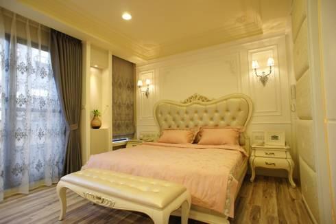 美式妍麗:  臥室 by 棠豐室內裝修設計工程有限公司