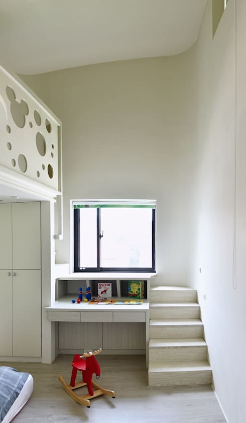 Bedroom by 行一建築 _ Yuan Architects