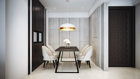 水..森..林:  餐廳 by 棠豐室內裝修設計工程有限公司