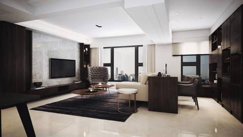 水..森..林:  客廳 by 棠豐室內裝修設計工程有限公司