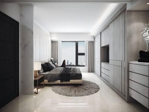 水..森..林:  臥室 by 棠豐室內裝修設計工程有限公司