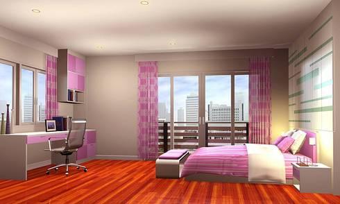 งานออกแบบ Bedroom:   by บริษัท99interior&Design.co.th