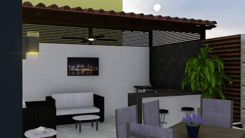 Patio arias de probase project management homify for Asadores modernos para patio