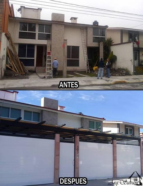 Antes y Despues Casa San Carlos:  de estilo  por Arkisav