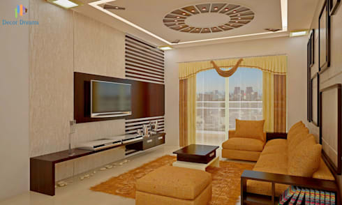 Sobha City, 3 BHK—Mr. Agrawal: modern Living room by DECOR DREAMS