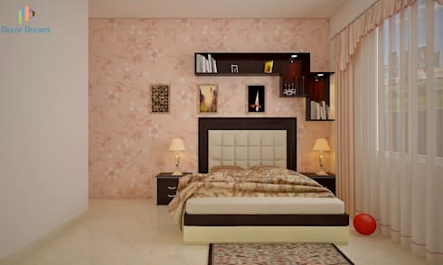 Sobha City, 3 BHK—Mr. Agrawal: modern Bedroom by DECOR DREAMS
