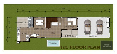 บ้านพักอาศัย VALENTINE SWEETY:   by PRECIO HOUSE