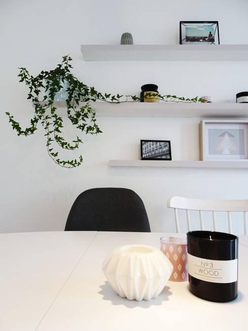3 pièces - Fontenay-sous-Bois: Salle à manger de style de style Scandinave par Sandrine Carré