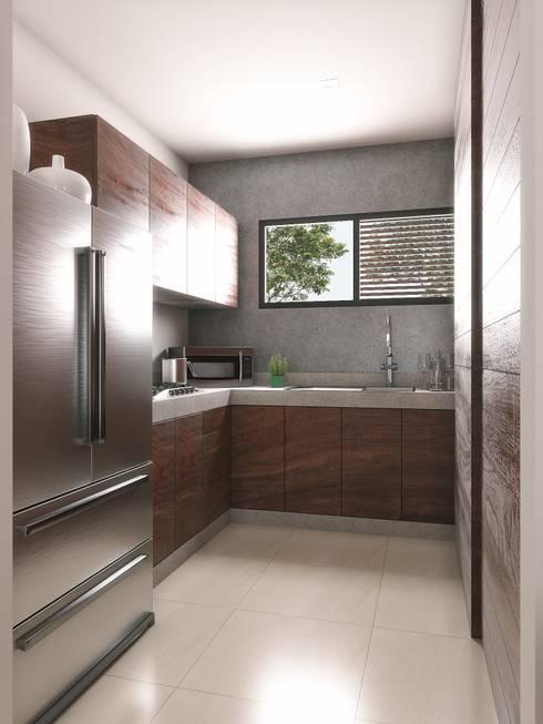 Cocina: Muebles de cocinas de estilo  por Taller Veinte