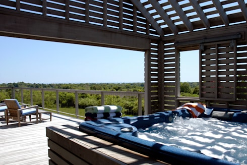 Town Lane Residence, Amagansett, NY: country Spa by BILLINKOFF ARCHITECTURE PLLC