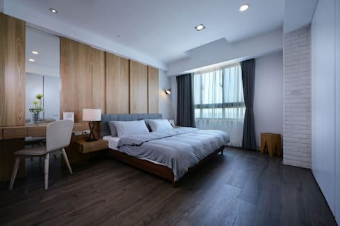 臥室A:  臥室 by 見本設計