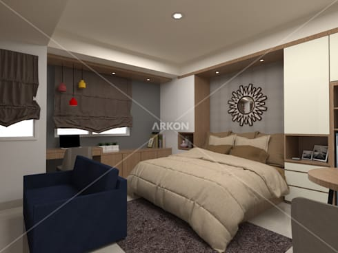 3D Apartment Trivium Terace, Cikarang Bekasi:  Bedroom by ARKON