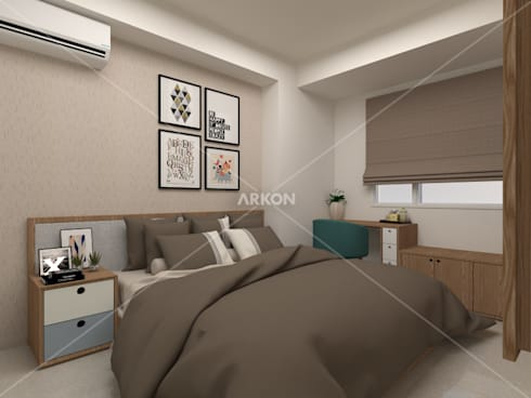 3D Apartment Trivium Terace, Cikarang Bekasi: modern Bedroom by ARKON