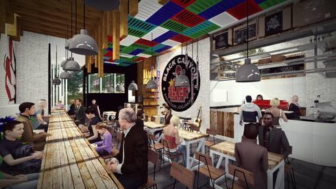 Black Canyon:  Ruang Makan by Pr+ Architect