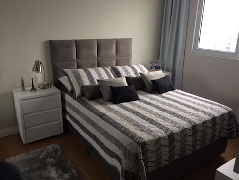 Apartamento en Itajaí Brasil: Habitaciones de estilo moderno por MBdesign