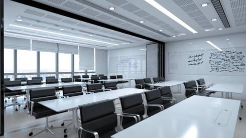 ห้องประชุม:  อาคารสำนักงาน by DD Double Design
