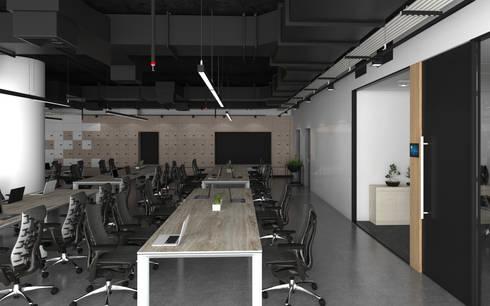 พื้นที่ทำงานฝ่าย Business:  อาคารสำนักงาน by DD Double Design