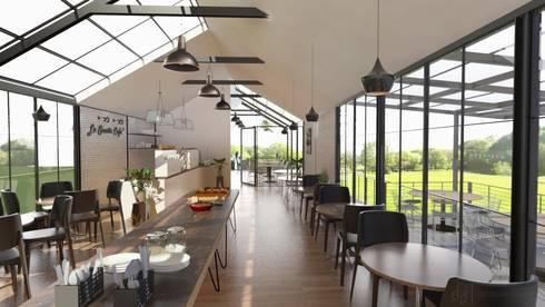 La Santir Cafe & Restaurant:  ร้านอาหาร by DD Double Design