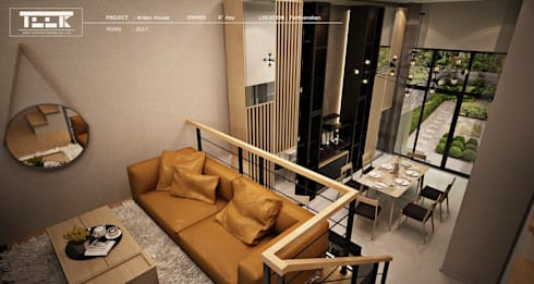 Arden House ที่พักอาศัย ทาวน์โฮม 3 ชั้น:   by Teek interior design