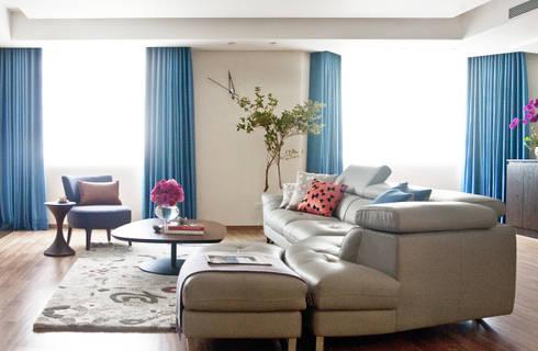 紐約家居 New York New York:  客廳 by 瑄境設計 Xuan Jing