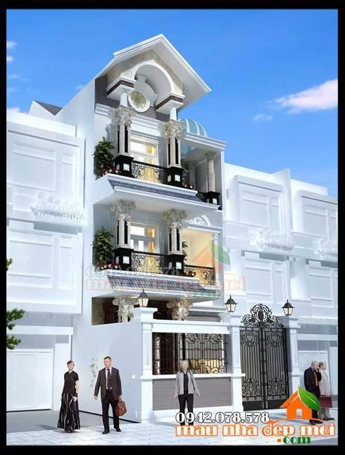 Không gian ngoại thất sang trọng, duyên dáng:  Biệt thự by Công ty TNHH TKXD Nhà Đẹp Mới
