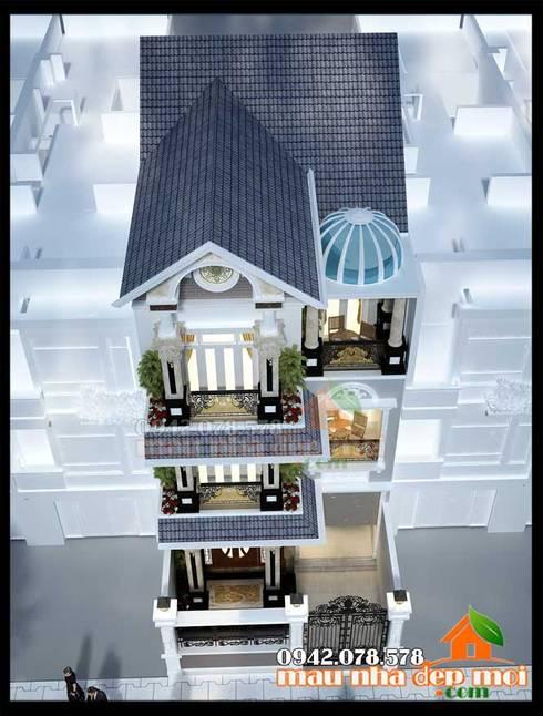 Kết cấu ổn định, cân bằng, uyển chuyển:  Biệt thự by Công ty TNHH TKXD Nhà Đẹp Mới