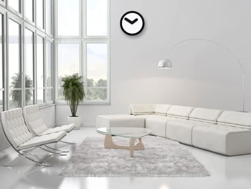Nextime Focus Black: modern Living room by Just For Clocks