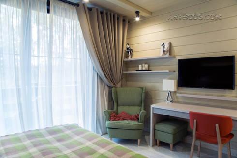 Гостевая спальня 1 этажа: Спальни в . Автор – Творческая мастерская АRTBOOS