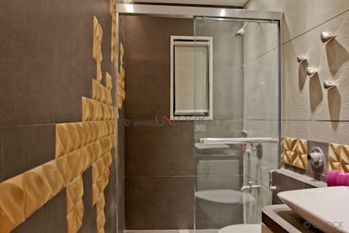 scrabble bathroom: modern Bathroom by UNLOCK ©™