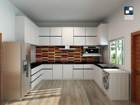 Kiychen room:  ตกแต่งภายใน by interir design work
