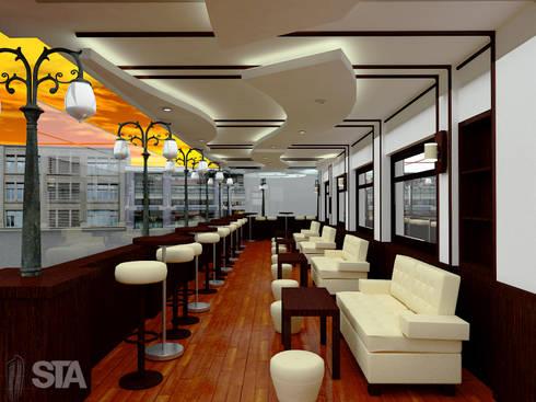Restaurante Vivaldi: Restaurantes de estilo  por Soluciones Técnicas y de Arquitectura