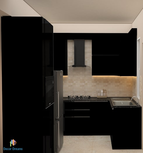DLF Woodland Heights, 3 BHK - Mrs. Darakshan: modern Kitchen by DECOR DREAMS