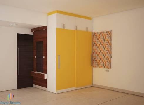 Ahad Euphoria, 2 BHK—Mr. Krishna: modern Bedroom by DECOR DREAMS