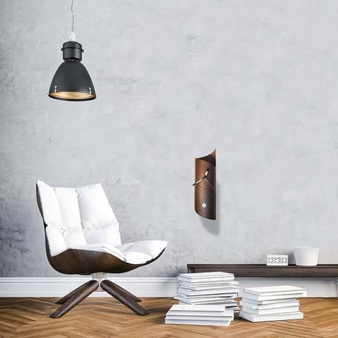 Tothora Wallsurf Pendulum Clock - Wenge: modern Living room by Just For Clocks
