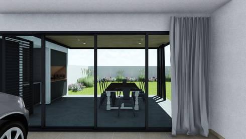 minimalistic Garage/shed by ARBOL Arquitectos
