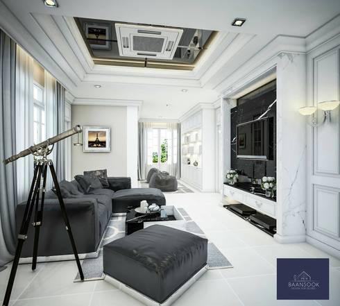 Renovate บ้าน ภัสสร งามวงศ์วาน:   by BAANSOOK Design & Living Co., Ltd.