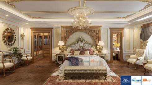 Nội thất phòng ngủ master tân cổ điển, Mrs.Thắm - Thanh Hóa:   by Công ty TNHH thiết kế nội thất KingPlace