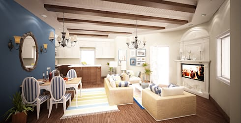 Villa Fouad & Yosra: modern Living room by Rêny
