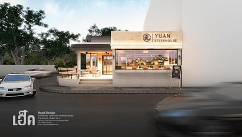 YUAN Steak Ubon:  ห้องทานข้าว by HEAD DESIGN